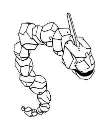 Onix Pokemon Of Brock Coloring Page Kleurplaten Pokemon Haken