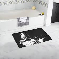stormie black with white bath rug 2
