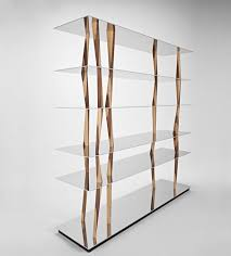 bookcase solid wood glass sendai