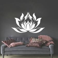Lotus Wall Decals Lotus Flowers Decal Lotus Vinyl Decal Sticker Bedroom Mn770 Ebay