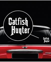 Catfish Hunter Decal Sticker Midwest Sticker Shop