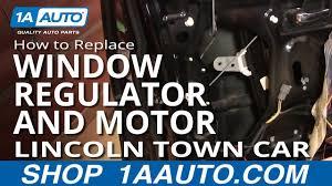 replace window regulator with motor