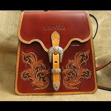 antique style leather bag leather bag