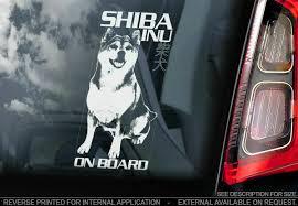 Shiba Inu Car Sticker Japanese Ken Dog Sign Window Bumper Decal Gift Pet V01 Ebay