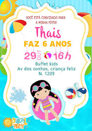 Imagem De Cumple Luz Por Romina Flores Convites Pool Party