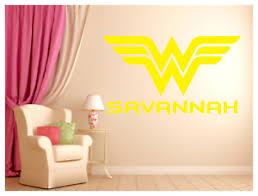 Wonder Woman With Name Logo Wall Decal Mural Art Sticker 36 X21 Wall Art Ebay