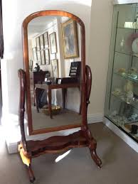 large mahogany floor standing cheval