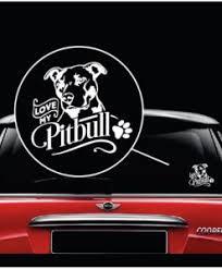 I Love My Pitbull Decal Sticker Midwest Sticker Shop