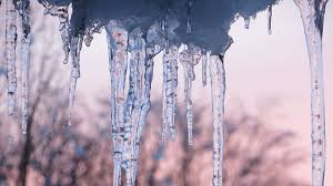 ice icicle frozen cold icy water
