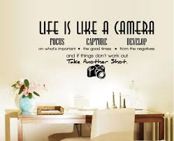 Life Is Like A Camera Vinyl Wall Decals Wall Sticker Quotes Etsy