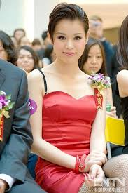 Myolie Wu news: Myolie dressed in a red low-cut dress talking about weight  loss tip
