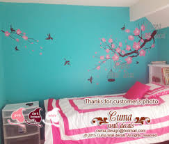 Flower Wall Decal Tree Wall Decals Flower By Cuma Wall Decals On