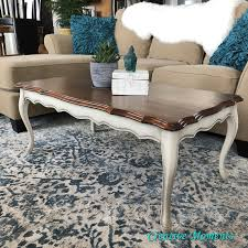 french provincial coffee table with