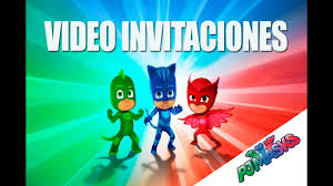 Invitacion Infantil De Pj Mask Youtube