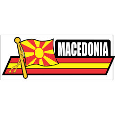 Macedonia Flag Car Sidekick Decal Flags N Gadgets