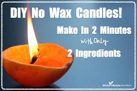 diy no wax candles