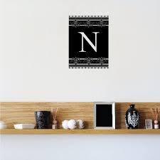N Monogram Elegant Wall Decal Vinyl Decal Car Decal Vd098 36 Inches Walmart Com Walmart Com