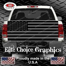 American Flag Black And Grey Truck Tailgate Wrap Vinyl Graphic Etsy