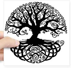 Amazon Com Cafepress Tree Of Life Square Sticker 3 X 3 Square Bumper Sticker Car Decal 3 X3 Small Or 5 X5 Large Home Kitchen