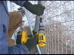 Easy Twist Ties Are Perfect For Small Commercial Chain Link Job Youtube