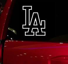 Dodgers Baseball Game Auto Window Sticker Decal For Car Truck Suv Decal 5 5 Car Window Vinyl Die Cut Sticker White Stickers Aliexpress