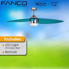 fanco wave 52 designer ceiling fan