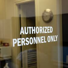 Die Cut Authorized Personnel Only Glass Decal Labels Sku Lb 1705