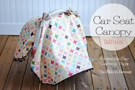 car seat canopy tutorial the ribbon