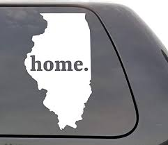 Amazon Com Illinois Decal Illinois Il Decal Home State Decal State Decal Car Decals Yeti Decal Laptop Decal State Love Window Decal Vinyl Wall Window Door Car Truck Home Kitchen
