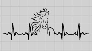 Horse Decal Horse Heartbeat Decal Laptop Decal Horse Laptop Sticker Horse Decor Horse Lover Gift Horse Sticker Equestrian Decal Farm Horse Heartbeat Horse Decor Mirror Decal