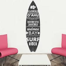 Bay Isle Home Neneleau Hawaii Surfboard Vinyl Words Wall Decal Wayfair