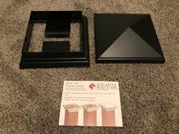 4 Black 6x6 Fence Post Plastic Cap For Sale Online