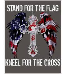 Stand For The Flag Kneel For The Cross Usa National Anthem Poster Teeshirtpalce