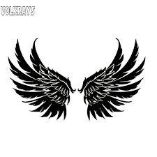 Volkrays Fashion Car Sticker Angel Wings Guardian Kids Accessories Reflective Waterproof Vinyl Decal Black Silver 11cm 19cm Car Stickers Aliexpress