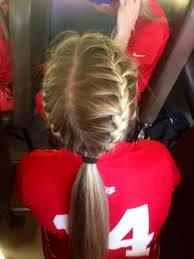 Pin by Adriana Keller on braids   Sports hairstyles, Soccer hair, Cheer hair