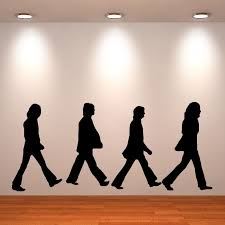 Details About The Beatles Wall Art Sticker Room Decal Abbey Road Silhouette The Fab Four Music In 2019 Wall Stickers Home Decor Music Wall Art Wall Stickers
