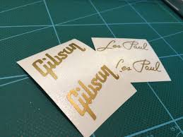 2x Pair Gold Headstock Replacement Gibson Les Paul Model Vinyl Decal Vinyl Decals Handmade Gifts Etsy