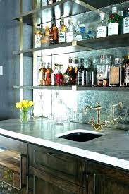 bar mirrors mirrored glass shelves