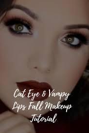 cat eye vy lips fall makeup