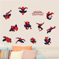 Spiderman 3d Wall Stickers Pvc Self Adhesive Marvel Superhero Wall Art Decals For Kids Room Nursery Spider Manwall Poster Kids Wall Stickers For Bedrooms Kids Wall Stickers Removable From Carrierxia 3 22 Dhgate Com
