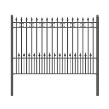 Mainstreet Aluminum Fence 3 4 In X 2 Ft X 6 Ft Black Aluminum Fence Puppy Guard Add On Panel 77331995 The Home Depot