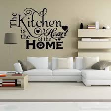 For Kitchen Heart Home Quote Wall Stickers Funny Art Dining Room Removable Art Decorate Decals Diy Full Wall Decal Full Wall Decals From Langru1002 8 14 Dhgate Com