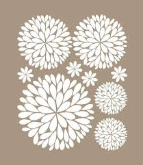 Another Bunch Of Dahlia Flowers Vinyl Wall Decal 29 95 Via Etsy Flower Wall Decals Stencil Vinyl Vinyl Wall Decals