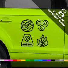 4 Elements Logo Car Decal Four Elements Logo Truck Or Bumper Etsy