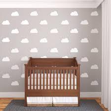 25 White Nursery Cloud Vinyl Wall Decals