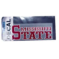 Mississippi State Jersey Baseball Lettering Decal Campus Book Mart