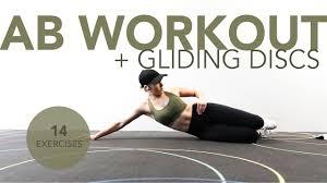 ab workout gliding discs you