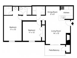 2 bedrooms 1 bathroom 850 sq ft