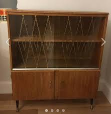 vintage dansette leg art deco cabinet