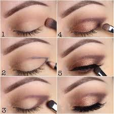 romantic look with natural colors